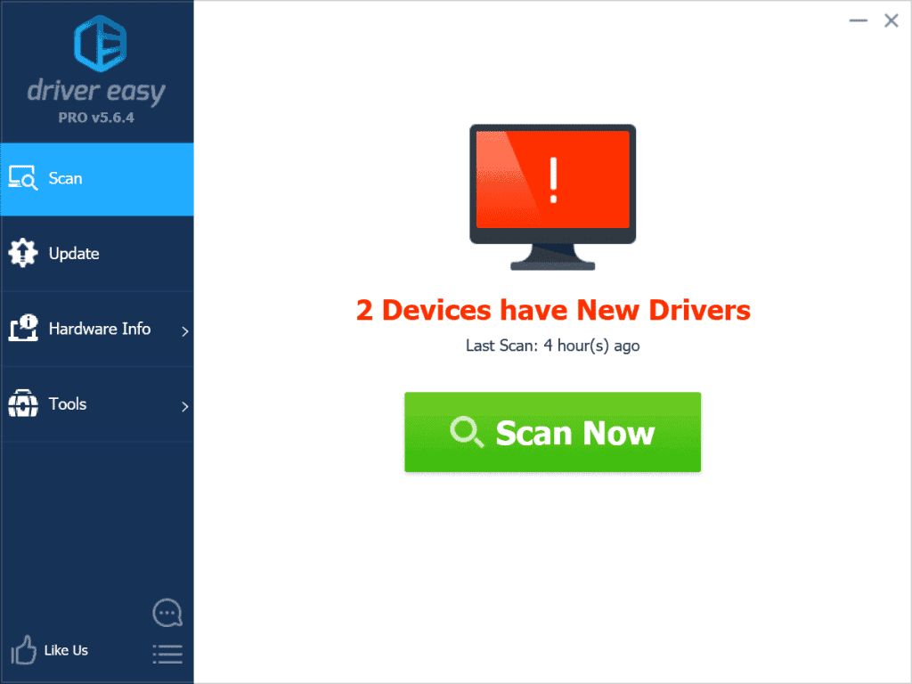 Driver Easy Home Screen