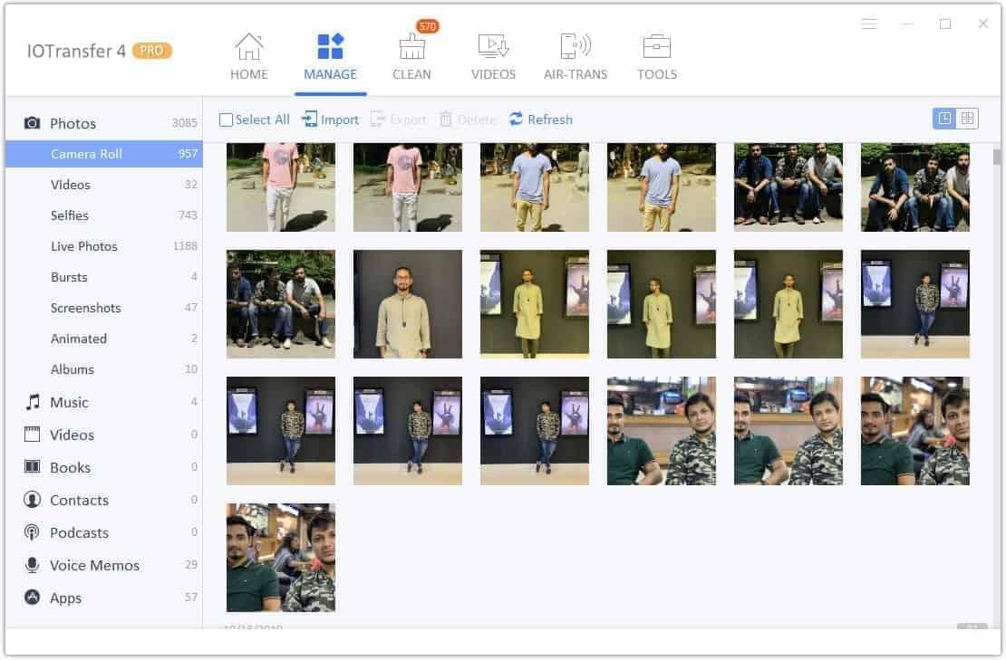 IOTransfer Photo Manager