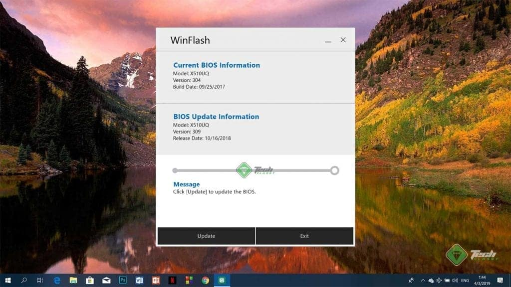 Update BIOS Using WinFlash