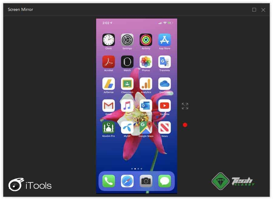iPhone Screen Mirroring to Desktop