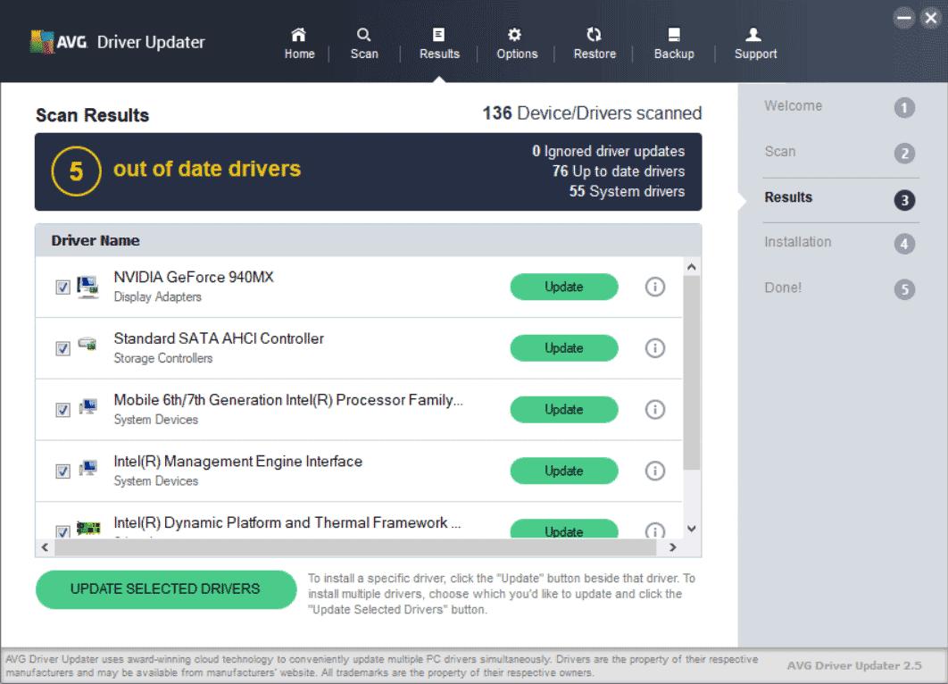 AVG Driver Updater Screenshot 2