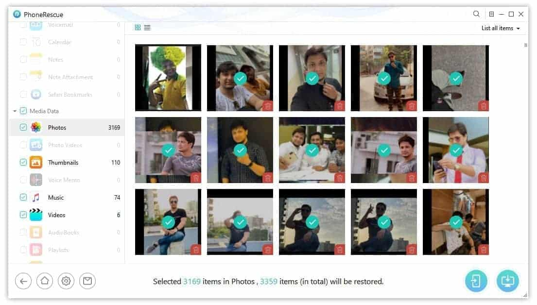 PhoneRescue Photo Recovery from iPhone