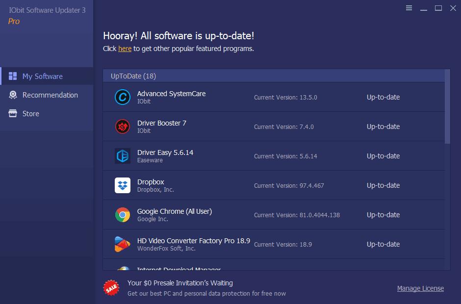 IObit Software Updater Screenshot 1