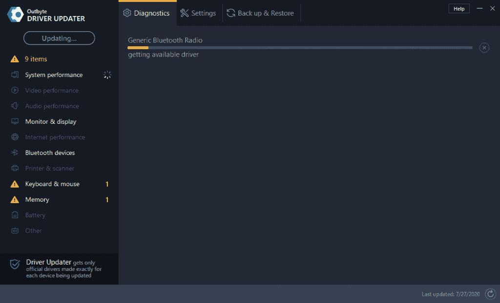 Outbyte Driver Updater Screenshot 3
