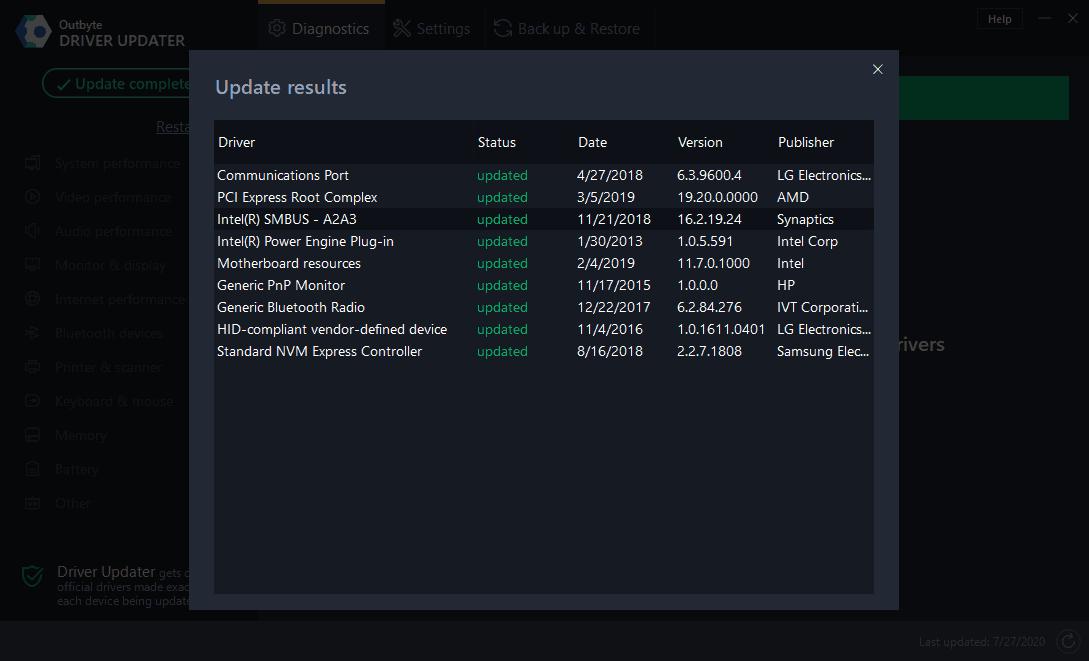 Outbyte Driver Updater Screenshot 2