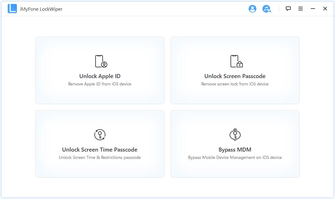 iMyFone LockWiper UI