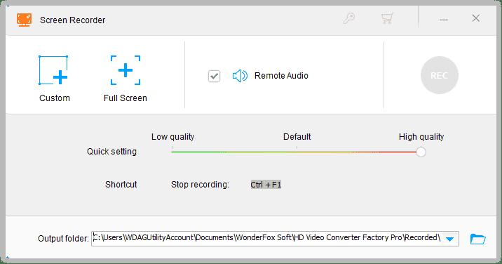 Screen Recorder Wonderfox Hd Video Converter